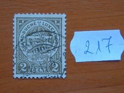 LUXEMBURG 2 C 1907 címer 217#