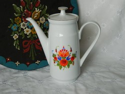 Retro porcelán kancsó, kiöntő, virág