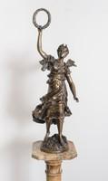 Niké istennő bronz szobor nagyméretű