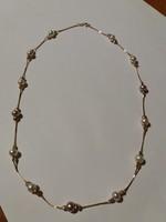 Gyöngybetétes arany nyaklánc