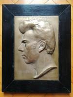 Bronz arckép, falikép - Zs. Csiszér J.