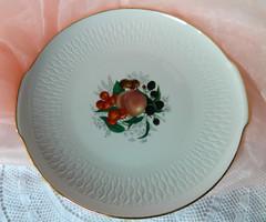 Gyümölcsös porcelán tál, tálaló