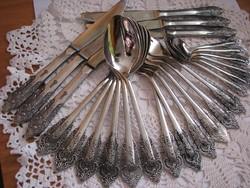 Csodaszép, antikolt orosz evőeszköz készlet