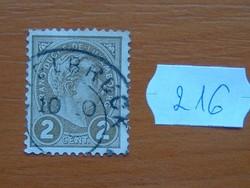 LUXEMBURG 2 C 1895  Luxemburg, Adolf nagyherceg 216#
