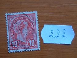 LUXEMBURG 10 C 1895  Luxemburg, Adolf nagyherceg 222#