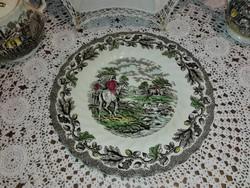 Staffordshire,Myott, lovasjelenetes,angol sütis tányér.