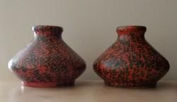 2 db retro, iparművészeti Tófej kerámia váza eladó