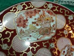 Japán GOLD  IMARI,kézzel festett óriás kínáló tányér...Virágkocsi sorozat.