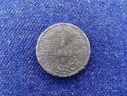 RITKA Ausztria Ferenc József 1 Krajcár 1863 E (id11571)