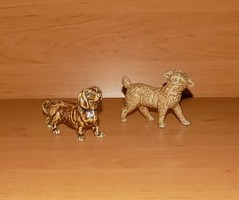 Német  porcelán kutya pár 2 db figura egyben (po-1)