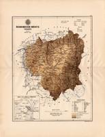 Háromszék megye térkép 1887 (4), vármegye, atlasz, Kogutowicz, Sepsiszentgyörgy, Kézdivásárhely