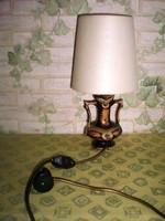 Kerámiatestű , jelzett asztali lámpa