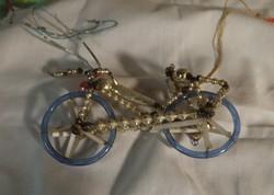 Karácsonyi üveg bicikli dísz  RITKA!!!!!