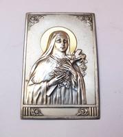 Régi ezüst Szűz Mária lemezveret.