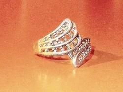 Régi Legyező mint.Tibeti ezüst Gyűrű 8-as