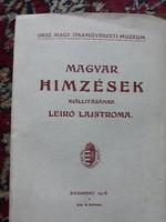 Magyar hímzések kiállításának leíró lajstroma