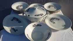 Retro Colditz német porcelán étkészlet jelzett
