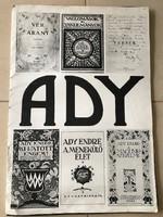 Ady plakátok mappában, 10 db fekete-fehér nyomat, 70 x 48 cm méret