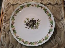 Vadász mintás herendi tányér vaddisznóval