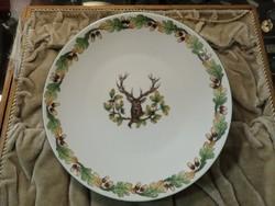 Vadász mintás herendi tányér szarvassal