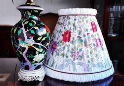 Teljesen egyedi 55cm-es Ó Herendi MACAO mintás porcelán asztali lámpa