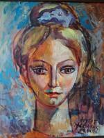 Józsa János festőművész Feleségem portréja
