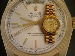 Olyan mint a Rolex 118238, de ez egy Eden svájci óra eredeti dobozában