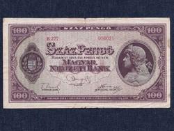 Háború utáni inflációs sorozat (1945-1946) 100 Pengő bankjegy 1945 / id 11859/