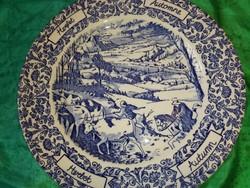 Ironstone,vidéki jelenetes ,angol porcelán tányér.
