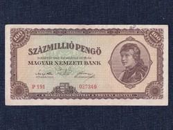 Háború utáni inflációs sorozat (1945-1946) 100000000 Pengő bankjegy 1946 / id 11862/