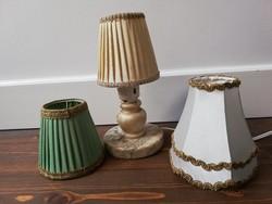 Antik márvány  asztali éjjeli lámpa választható selyem ernyővel