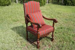 Ónémet faragott fotel, karosszék, karfás szék 1.