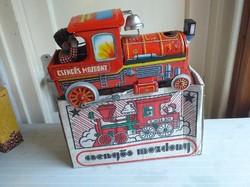 Csengős mozdony eredeti dobozában