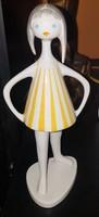 Art Deco Drasche kislány csikos ruhában