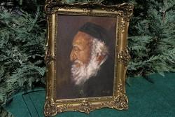 """Bánfi szignós festmény (""""Rabbi"""")"""