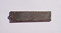 Antique comb with chiseled knife opening