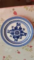 Kerámia tányér,kék virágos, jelzett fali tányér eladó!