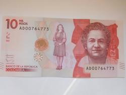 Kolumbia 10 000 pesos 2016 UNC