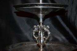 Ritka osztrak/magyar ezust asztalkozep gyertyatartoval