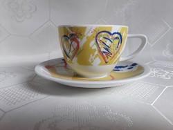2928- Modern rosenthal teáscsésze aljjal (Carla Manco)