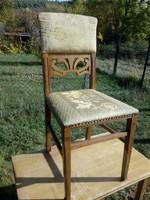 Faragott mintás antik szecessziós szék