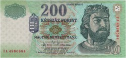 200 Forint 2004 FA - UNC