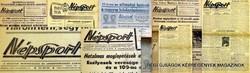1959 november 8  /  Népsport  /  SZÜLETÉSNAPRA RÉGI EREDETI ÚJSÁG Szs.:  4809