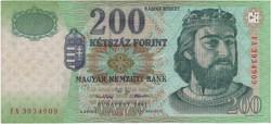 200 Forint 2001 FA - VF+