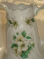Csodás szellő-rózsás porcelán kiöntő 13 cm magas eladó