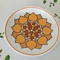 Hollóházi jelzett napraforgó fali tányérok párpan ritka mintával hibátlan porcelán