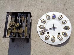 Antik álló óra szerkezet és számlap