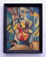Szobotka Imre kubista festménye