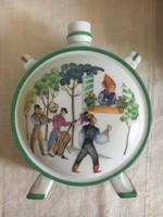 Nagy méretű Zsolnay porcelán kulacs - 19,5 cm!