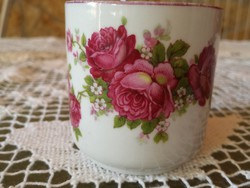 Zsolnay rózsás kávés csésze